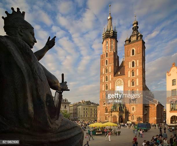 Adam Mickiewicz Monument in Rynek Glowny