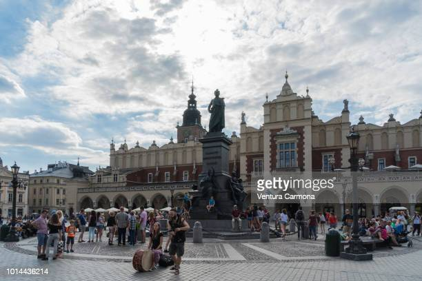 adam mickiewicz monument, kraków - poland - kraków ストックフォトと画像