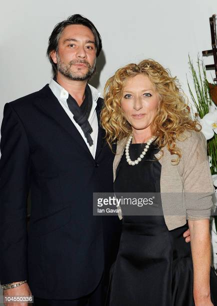 Adam Mikieljohn and Kelly Hoppen attend the launch party for 'Promise' a new capsule ring collection created by Cheryl Cole and de Grisogono at Nobu...