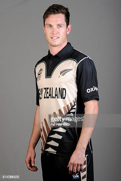Adam Milne of New Zealand poses during the official photocall for the ICC Twenty20 World on March 8 2016 in Mumbai India
