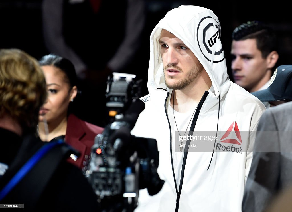 Adam Milstead prepares to fight Jordan Johnson in their light heavyweight bout during the UFC 222 event inside T-Mobile Arena on March 3, 2018 in Las Vegas, Nevada.