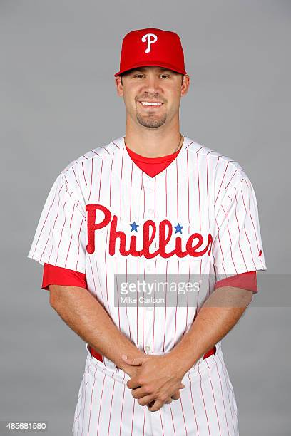 Adam Morgan of the Philadelphia Phillies poses during Photo Day on Friday February 27 2015 at Bright House Field in Clearwater Florida