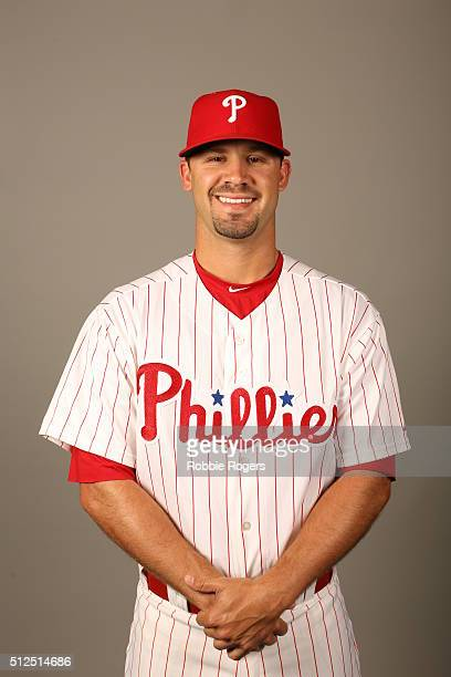 Adam Morgan of the Philadelphia Phillies poses during Photo Day on Friday February 26 2016 at Bright House Field in Clearwater Florida