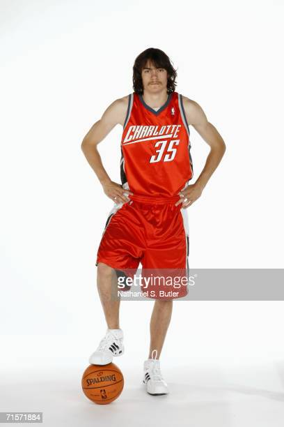 Adam Morrison of the Charlotte Bobcats poses for a portrait at Cox Pavilion on July 23 2006 in Las Vegas Nevada NOTE TO USER User expressly...