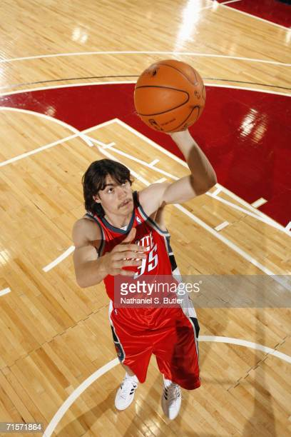 Adam Morrison of the Charlotte Bobcats poses for an action portrait at Cox Pavilion on July 23 2006 in Las Vegas Nevada NOTE TO USER User expressly...