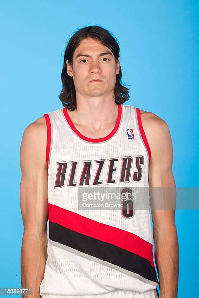 Adam Morrison of the Portland Trail Blazers poses for a photo during Media Day on October 1 2012 at the Rose Garden Arena in Portland Oregon NOTE TO...