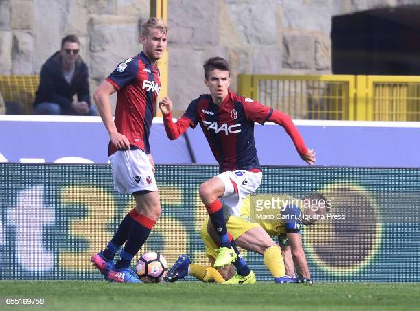 Adam Nagy of Bologna FC in action during the Serie A match between Bologna FC and AC ChievoVerona at Stadio Renato Dall'Ara on March 19 2017 in...
