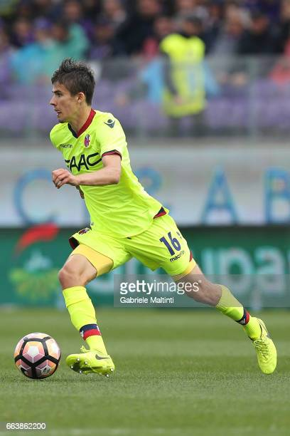 Adam Nagy of Bologna FC in action during the Serie A match between ACF Fiorentina and Bologna FC at Stadio Artemio Franchi on April 2 2017 in...