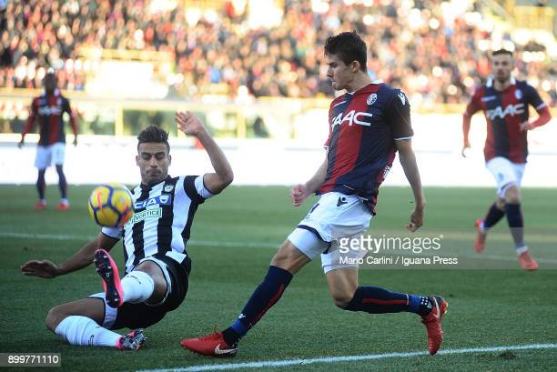 Adam Nagy of Bologna FC in action during the Serie A match between Bologna FC and Udinese Calcio at Stadio Renato Dall'Ara on December 30 2017 in...