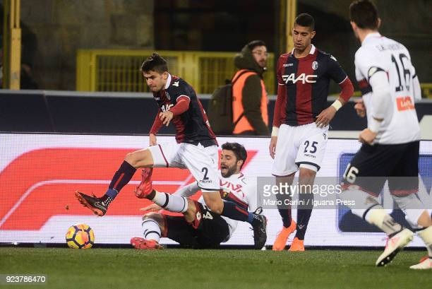 Adam Nagy of Bologna FC in action during the serie A match between Bologna FC v Genoa CFC at Stadio Renato Dall'Ara on February 24 2018 in Bologna...