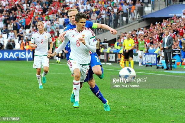 Adam NAGY of Hungary during the UEFA EURO 2016 Group F match between Iceland and Hungary at Stade Velodrome on June 18 2016 in Marseille France