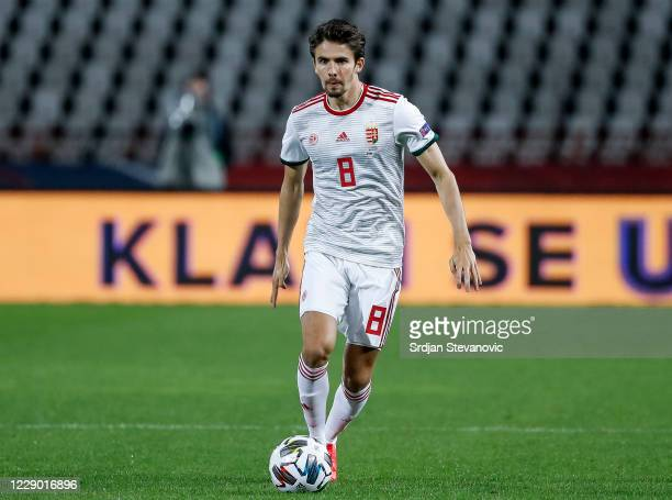 Adam Nagy of Hungary in action during the UEFA Nations League group stage match between Serbia and Hungary at Rajko Mitic Stadium on October 11, 2020...