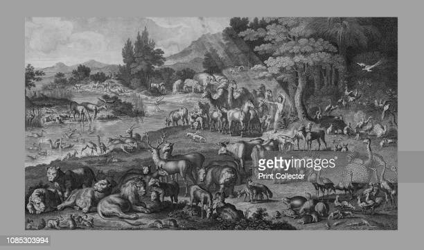 Adam naming the Creation Old Testament scene Adam names the animals Artist Unknown