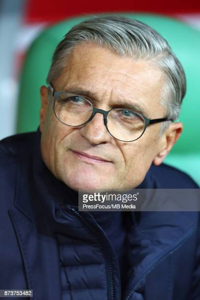 Adam Nawalka head coach of Poland during the international friendly match between Poland and Mexico on November 13 2017 in Gdansk Poland
