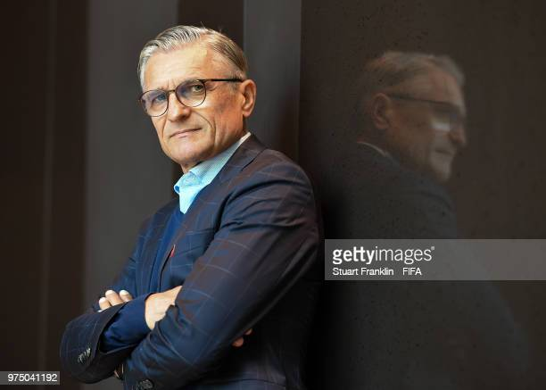 Adam Nawalka head coach of Poland poses for a photograph during the official FIFA World Cup 2018 portrait session at on June 14 2018 in Sochi Russia