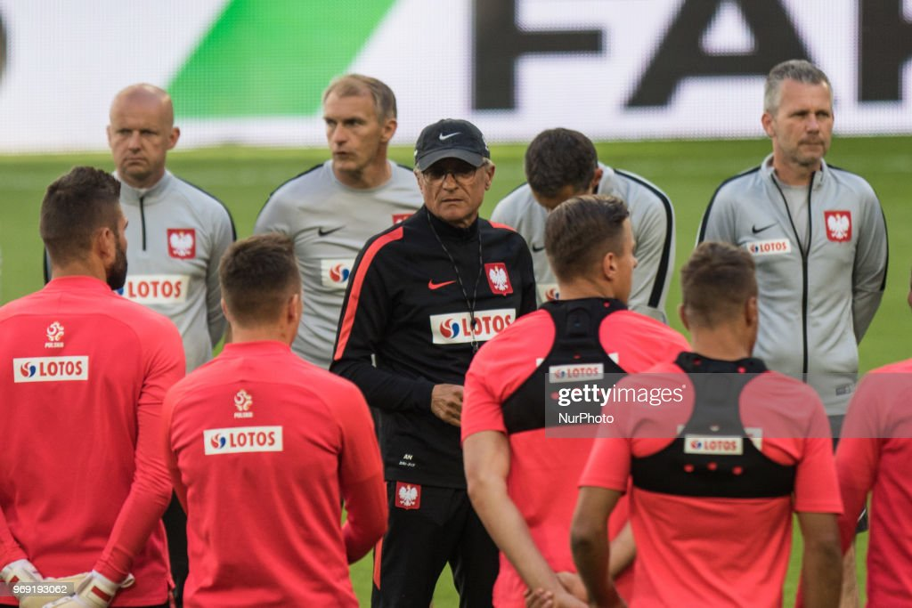 Poland Training And Press Conference : News Photo