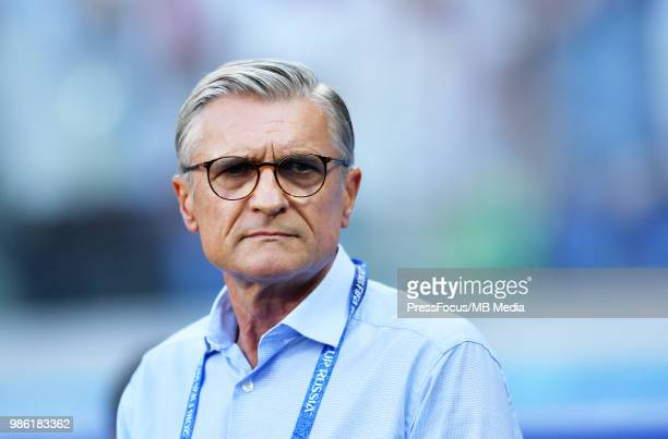 Adam Nawalka Manager of Poland during the 2018 FIFA World Cup Russia group H match between Japan and Poland at Volgograd Arena on June 28 2018 in...