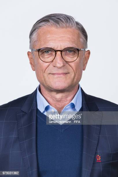 Adam Nawalka of Poland poses during the official FIFA World Cup 2018 portrait session at Hyatt Regency Hotel on June 14 2018 in Sochi Russia