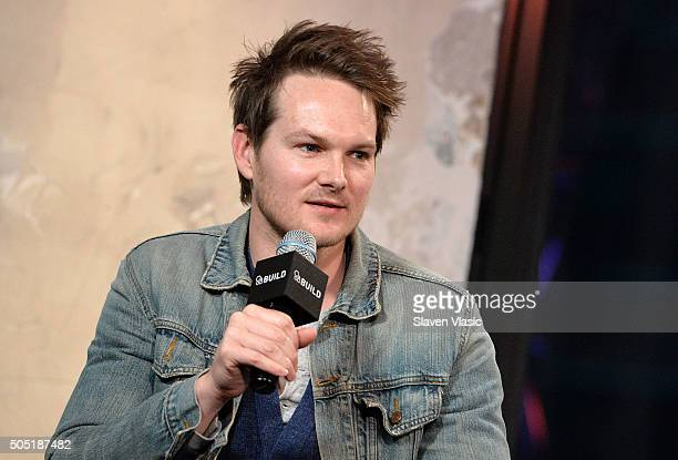 Adam Nee discusses his upcoming film Band of Robbers at AOL Build Speaker Series at AOL Studios In New York on January 15 2016 in New York City