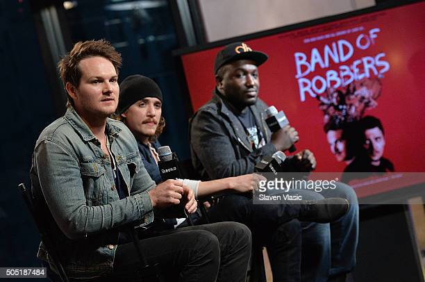 Adam Nee Kyle Gallner and Hannibal Buress discuss their upcoming film ÒBand of RobbersÓ at AOL Build Speaker Series at AOL Studios In New York on...