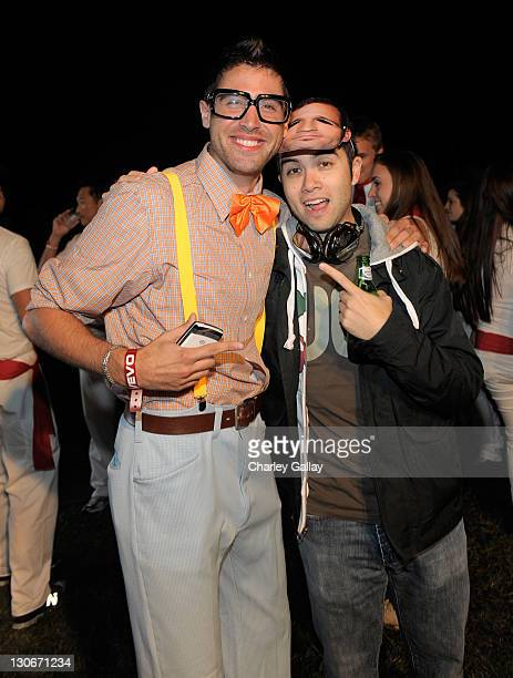 Adam Nello and DJ Mike Newman attend Six Feet Deep presented by VEVO held at Hollywood Forever Cemetary on October 27 2011 in Hollywood California