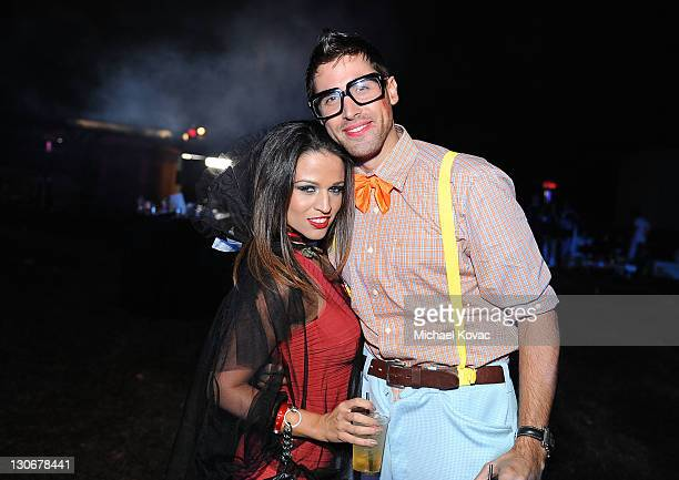 Adam Nello and guest attend Six Feet Deep presented by VEVO held at Hollywood Forever Cemetary on October 27 2011 in Hollywood California