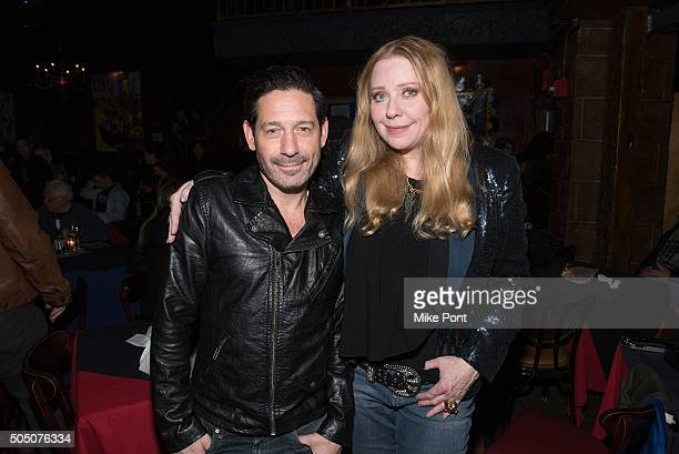 Adam Nelson and Bebe Buell attend the Velvet Underground Lou Reed Benefit Tribute 50th Anniversary Celebration of the Arts at The Cutting Room on...