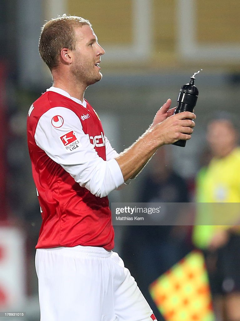 Adam Nemec of Berlin looks on during the Second Bundesliga match between 1.FC Union Berlin and Fortuna Duesseldorf at Stadion an der Alten Foersterei on August 19, 2013 in Berlin, Germany.