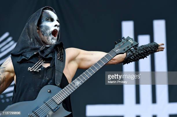 Adam 'Nergal' Darski of Behemoth performs on stage at the Download Festival on 11th March 2019 in Melbourne Australia