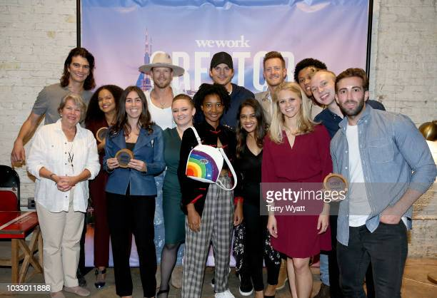 Adam Neumann CEO of WeWork Sarah Martin McConnell of Music For Seniors Janett Liriano of Loomia Winner Stephanie Benedetto of Queen of Raw Brian...