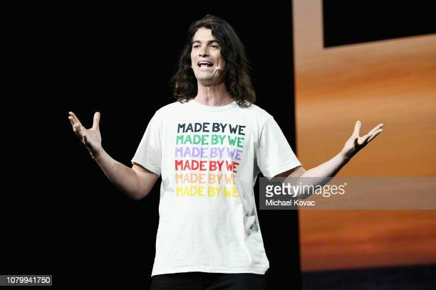 Adam Neumann speaks onstage during WeWork Presents Second Annual Creator Global Finals at Microsoft Theater on January 9, 2019 in Los Angeles,...