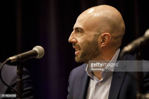 Adam Ostrow chief digital officer of TEGNA Inc smiles during the Digital Entertainment World conference in Marina Del Rey California US on Monday Feb...