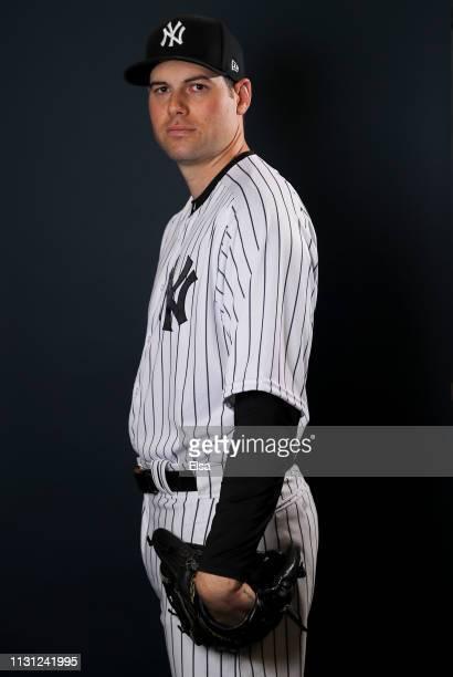 Adam Ottavino of the New York Yankees poses for a portrait during the New York Yankees Photo Day on February 21 2019 at George M Steinbrenner Field...