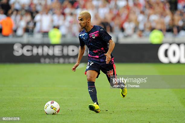 Adam OUNAS of Bordeaux during the french Ligue 1 match between Olympique Lyonnais and Girondins de Bordeaux at Stade des Lumieres on September 10...