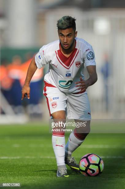 Adam Ounas of Bordeaux during the French National Cup Quarter Final match between SCO Angers and Girondins Bordeaux on April 5 2017 in Angers France