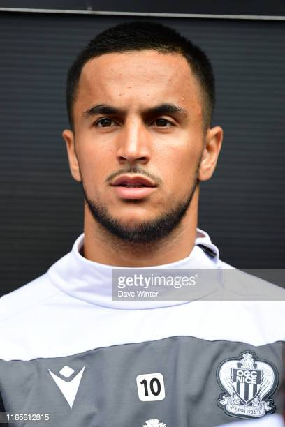 Adam Ounas of Nice during the Ligue 1 match between Rennes and OGC Nice on September 1, 2019 in Rennes, France.