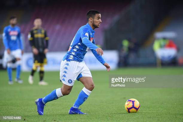 Adam Ounas of SSC Napoli during the Serie A TIM match between SSC Napoli and Frosinone Calcio at Stadio San Paolo Naples Italy on 8 December 2018