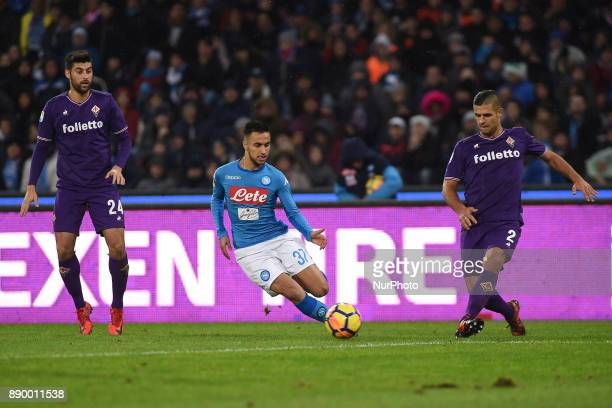 Adam Ounas of SSC Napoli during the Serie A TIM match between SSC Napoli and ACF Fiorentina at Stadio San Paolo Naples Italy on 10 December 2017