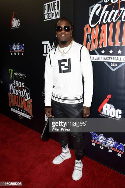 Adam Pacman Jones attends the Monster Energy $50K Charity Challenge Celebrity Basketball Game at UCLA's Pauley Pavilion on July 08 2019 in Westwood...