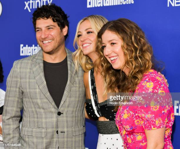 Adam Pally Abby Elliott and Jessy Hodges attend NBC's Comedy Starts Here at NeueHouse Hollywood on September 16 2019 in Los Angeles California