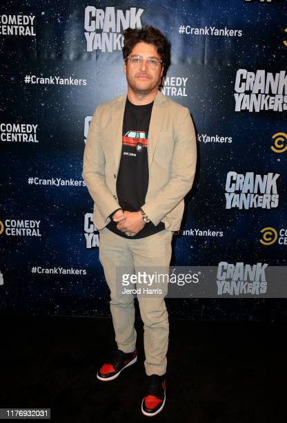 Adam Pally attends the Crank Yankers 2019 Premiere Party at Two Bit Circus on September 24 2019 in Los Angeles California