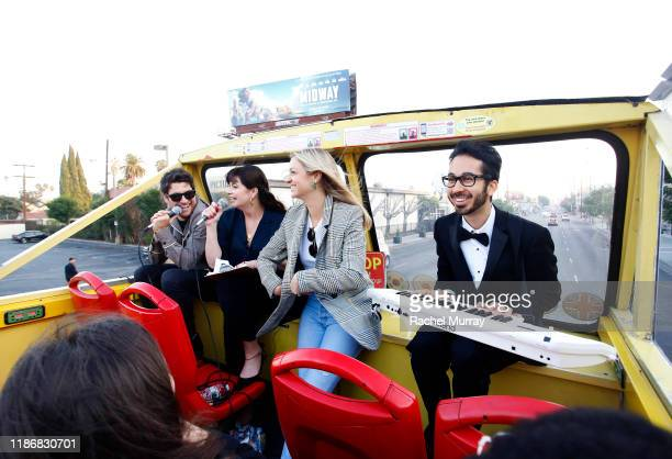 Adam Pally Casey Wilson Abby Elliot and guest attend A Star Tour during the Vulture Festival Presented By ATT on November 10 2019 in Hollywood...