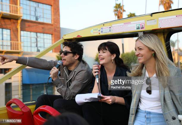 Adam Pally Casey Wilson and Abby Elliot attend A Star Tour during the Vulture Festival Presented By ATT on November 10 2019 in Hollywood California