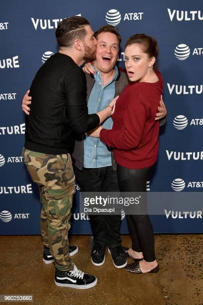 Adam Pally Dan Gregor and Rachel Bloom attend the Vulture Festival Presented By ATT an evening with Rachel Bloom and Adam Pally at Milk Studios on...
