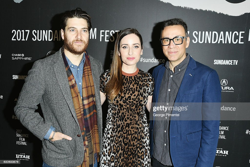 Adam Pally, director Zoe Lister-Jones and Fred Armisen attend the 'Band Aid' Premiere at Eccles Center Theatre on January 24, 2017 in Park City, Utah.