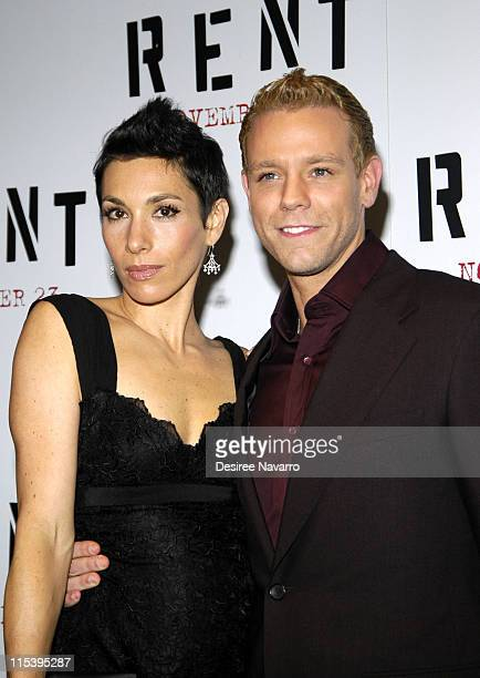 Adam Pascal and Cybele during ''Rent'' New York City Premiere Arrivals at Ziegfeld Theater in New York City New York United States