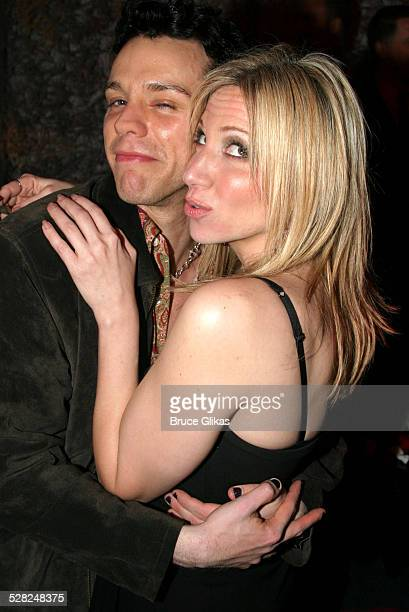 Adam Pascal and Deborah Gibson during Sam Mendes and Rob Marshall's Broadway Production of Cabaret Closing Night at Studio 54 in New York City New...