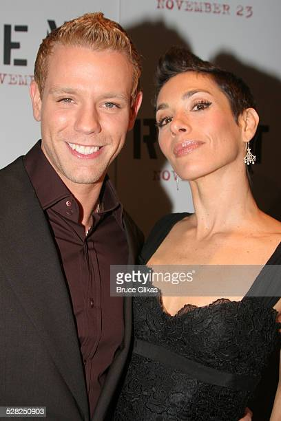 Adam Pascal and wife Cybele Pascal during ''Rent'' New York City Premiere Arrivals at Ziegfeld Theater in New York City New York United States