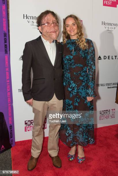 Adam Pearson and Jess Weixler attend 'Sorry To Bother You' 10th Annual BAMcinemaFest Opening Night Premiere at BAM Harvey Theater on June 20 2018 in...