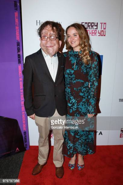 Adam Pearson and Jess Weixler during the 10th Annual BAMcinemaFest Opening Night Premiere Of 'Sorry To Bother You' at BAM Harvey Theater on June 20...